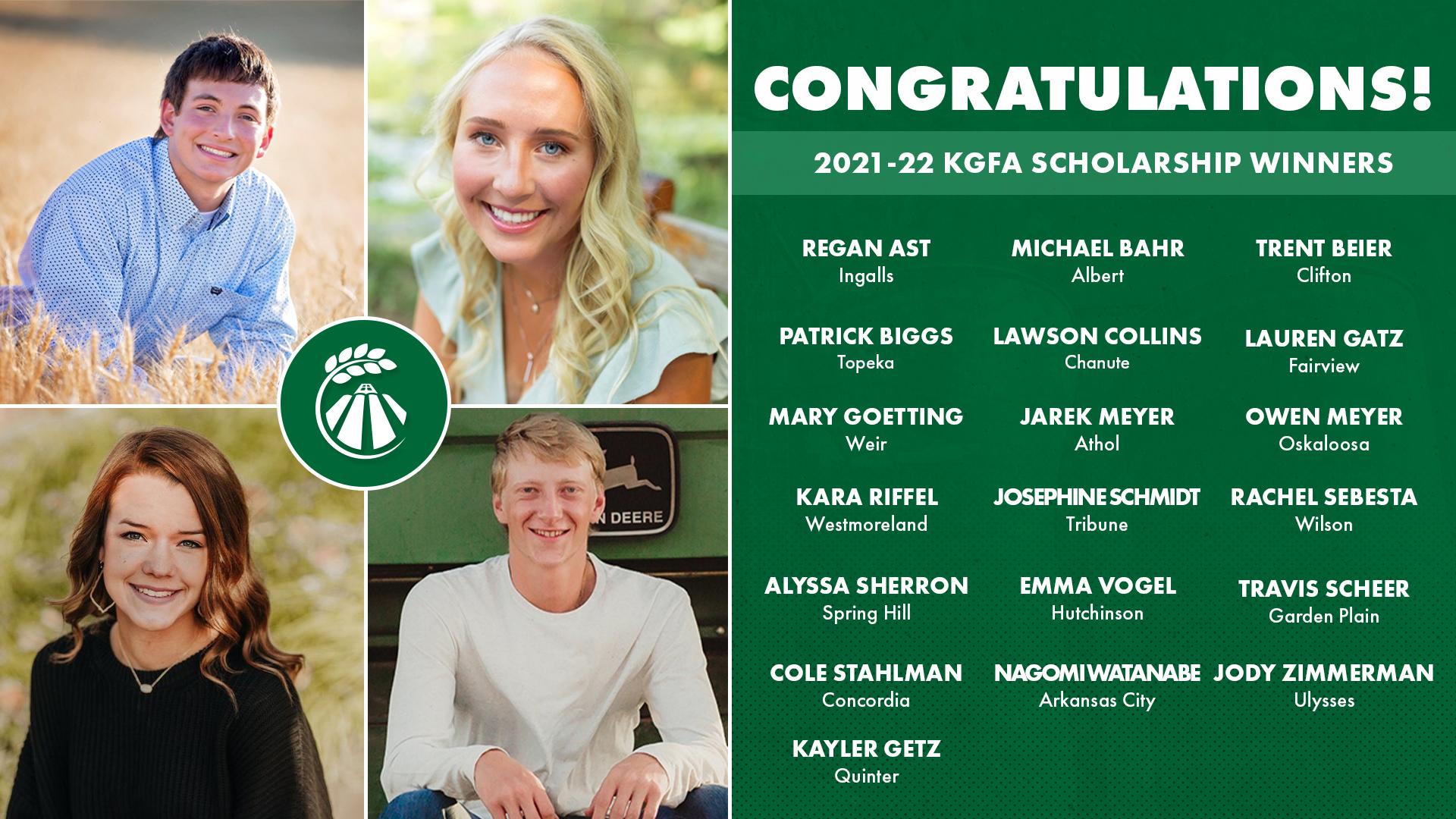 2021 KGFA Scholarship Winners